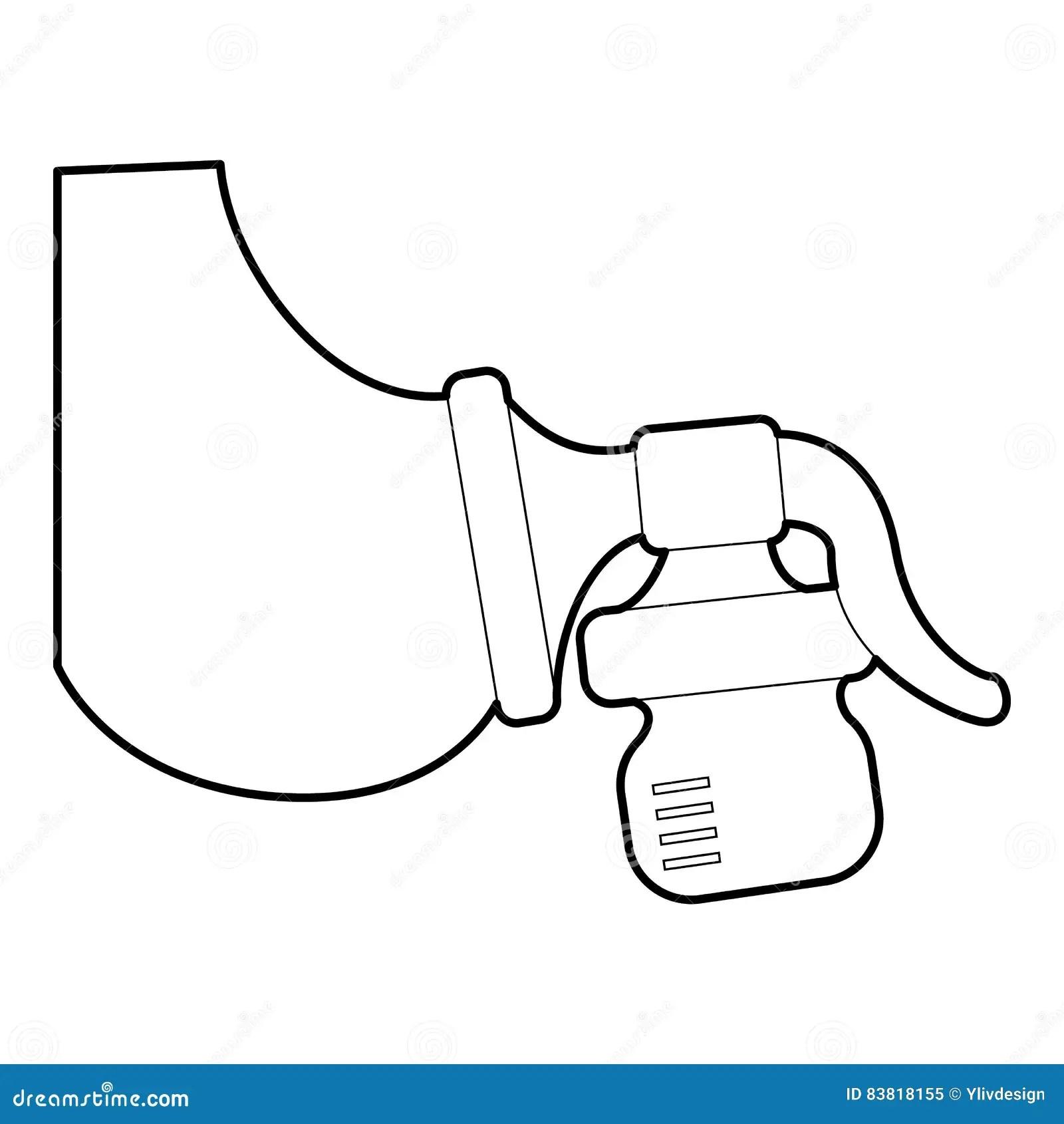 Ícone Manual Da Bomba De Peito, Estilo 3d Isométrico