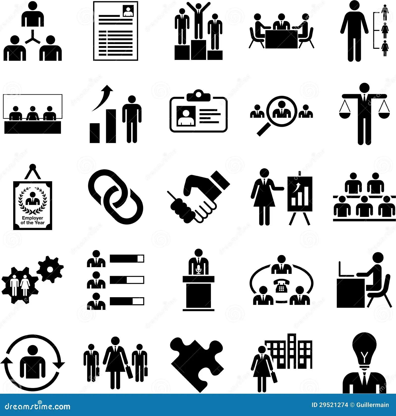 Icones Da Gestao De Recursos De Huma Imagens De Stock