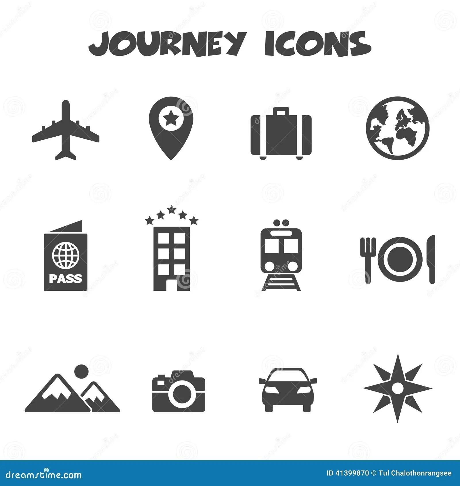 Icones Da Viagem Ilustracao Do Vetor Ilustracao De