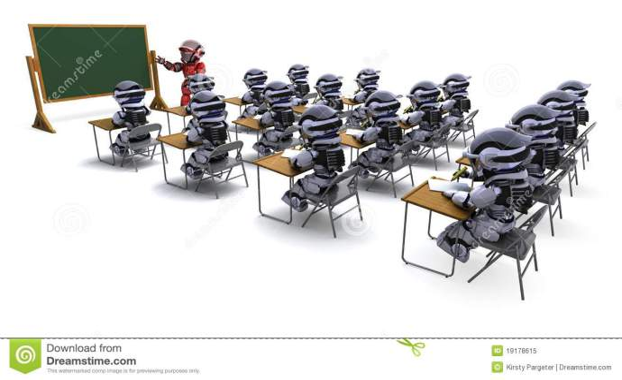 δάσκαλος ρομπότ τάξεων απεικόνιση αποθεμάτων. εικονογραφία από ...
