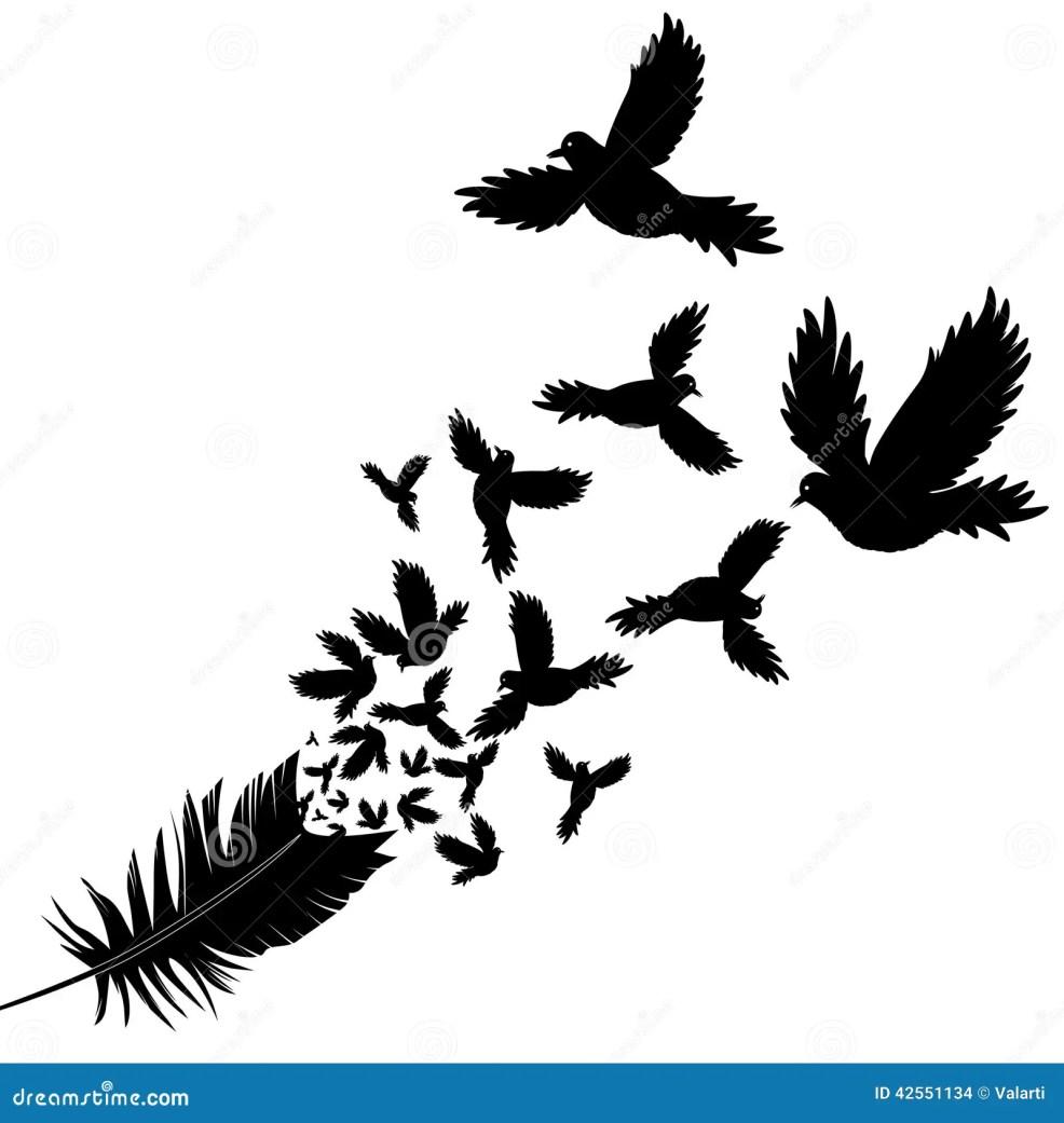 перо эскиза иллюстрации вектора птицы иллюстрация вектора