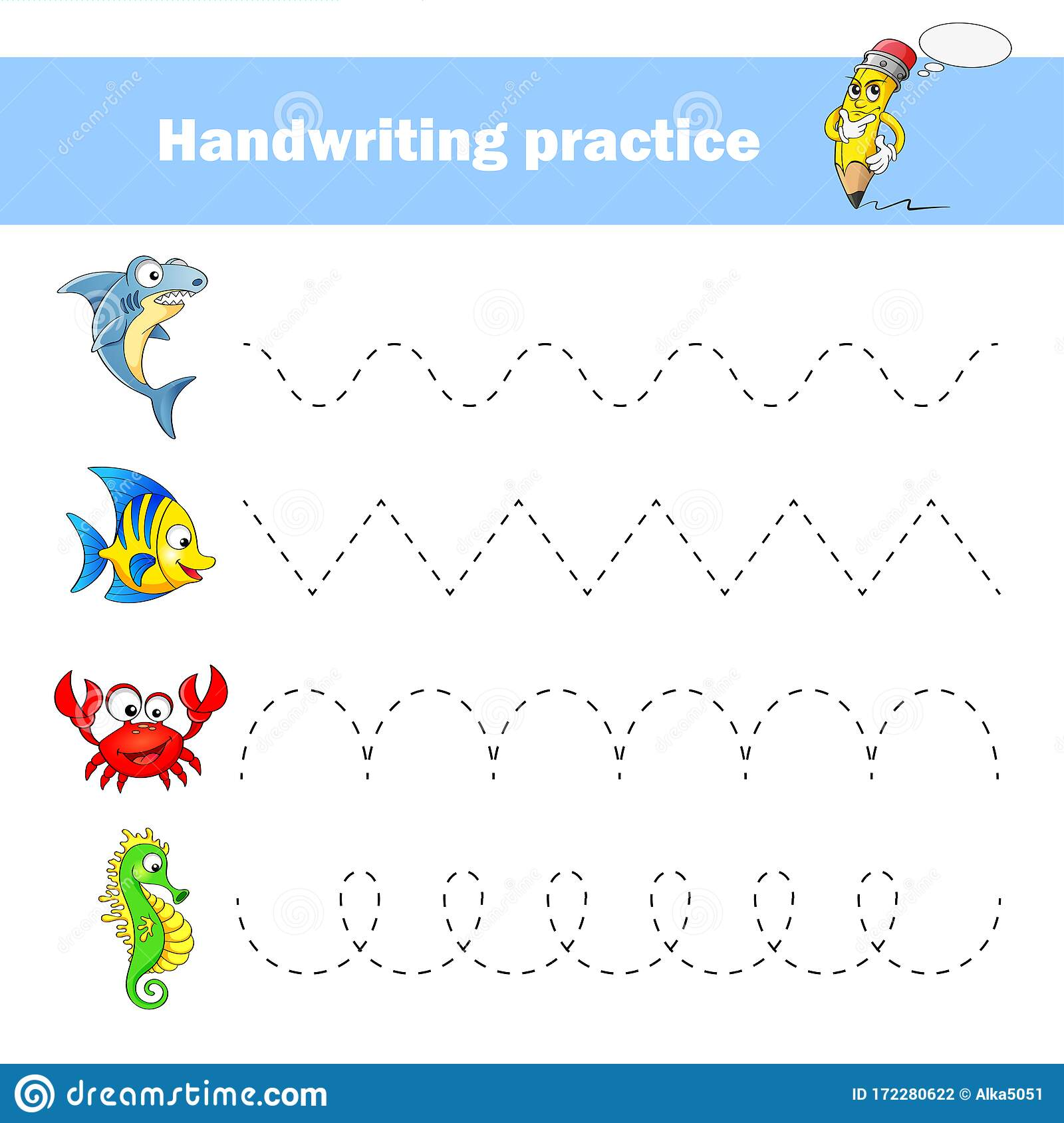 Worksheet For Practicing Fine Kids Motor Skills