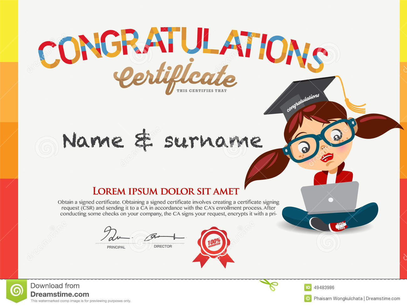 Child Certificate Template - mandegar.info