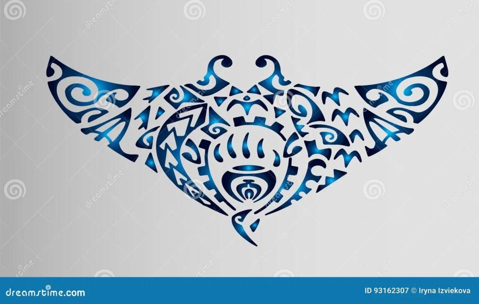 эскиз хвостоколового полинезии татуировок иллюстрация штока