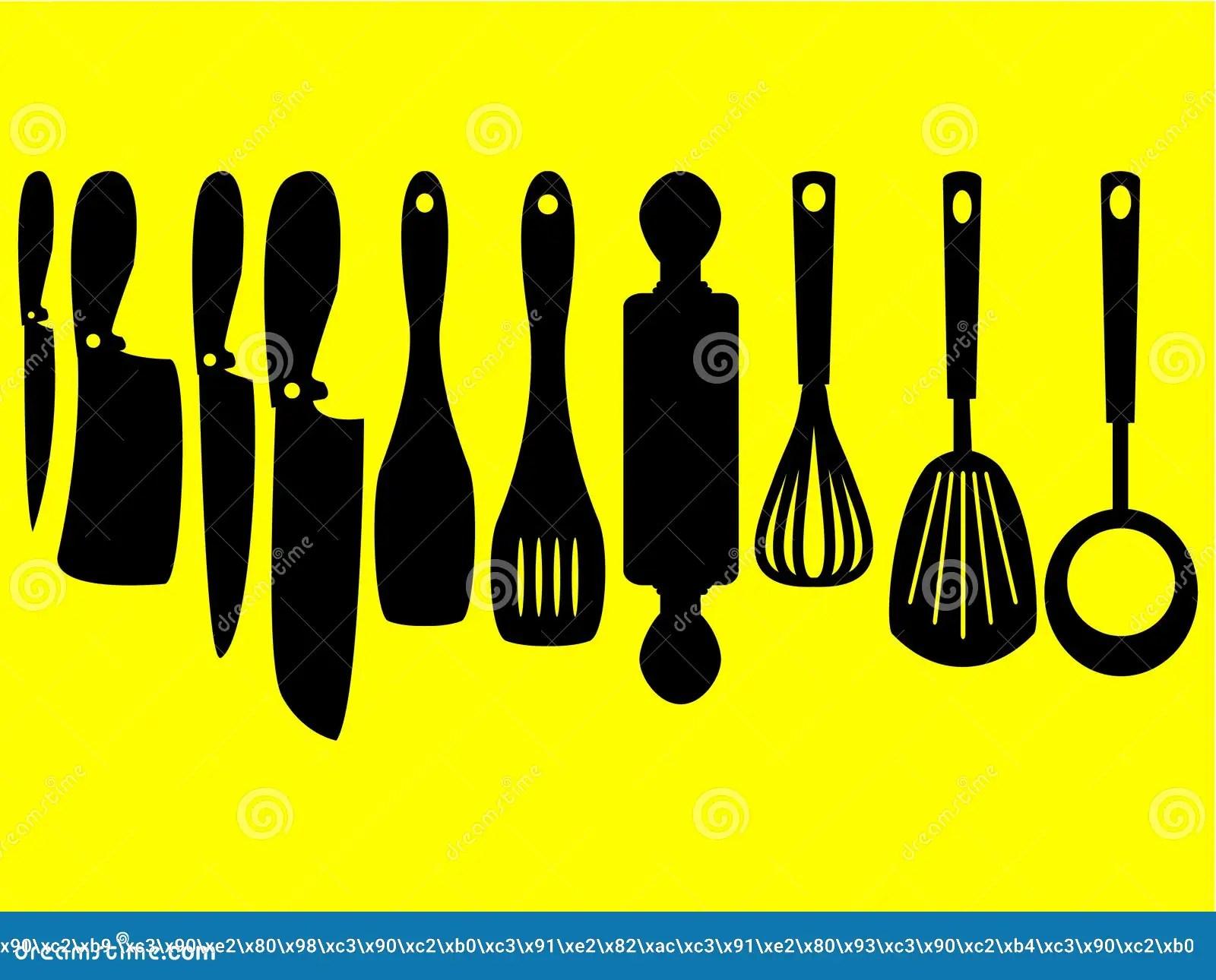 kitchen design tools virtual tool 一套的壮观的设计厨房工具剪影向量例证 插画包括有食物 收集 厨房 一套的壮观的设计厨房工具剪影