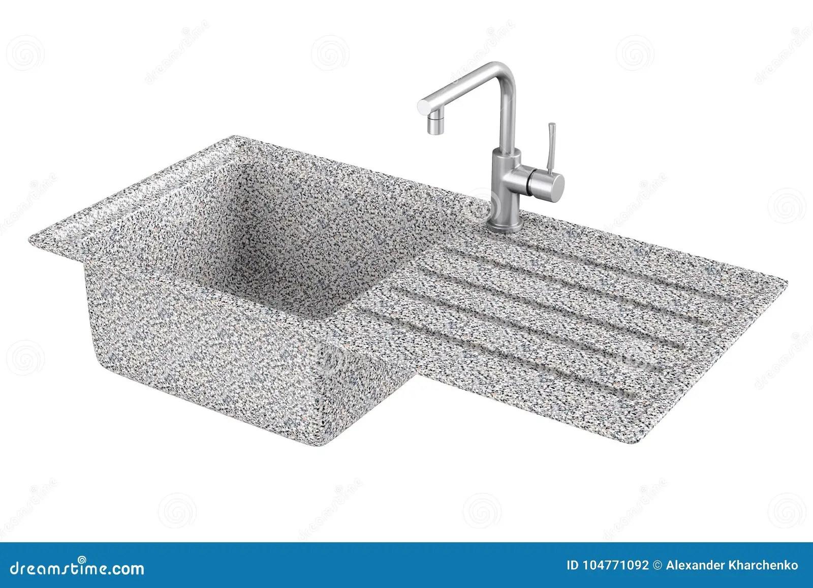 slate kitchen faucet hot water for sink 与不锈钢水龙头 fauc的现代花岗岩厨房水槽库存例证 插画包括有设计 fauc的现代花岗岩厨房水槽