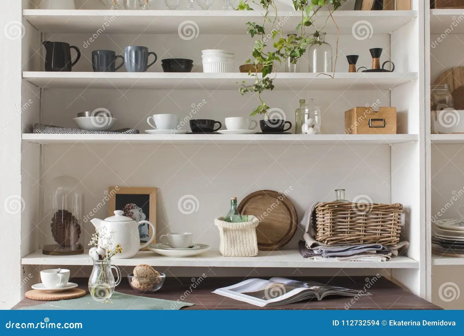 kitchen shelf decor design cheap 与器物的厨房架子库存照片 图片包括有命令 高雅 准备 现代 没人 与器物的厨房架子