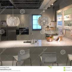 Ikea Kitchen Counter Farmhouse Style Table 与柜台的现代厨房设计在宜家编辑类图片 图片包括有材料 装饰 装备 与柜台的现代厨房设计在宜家