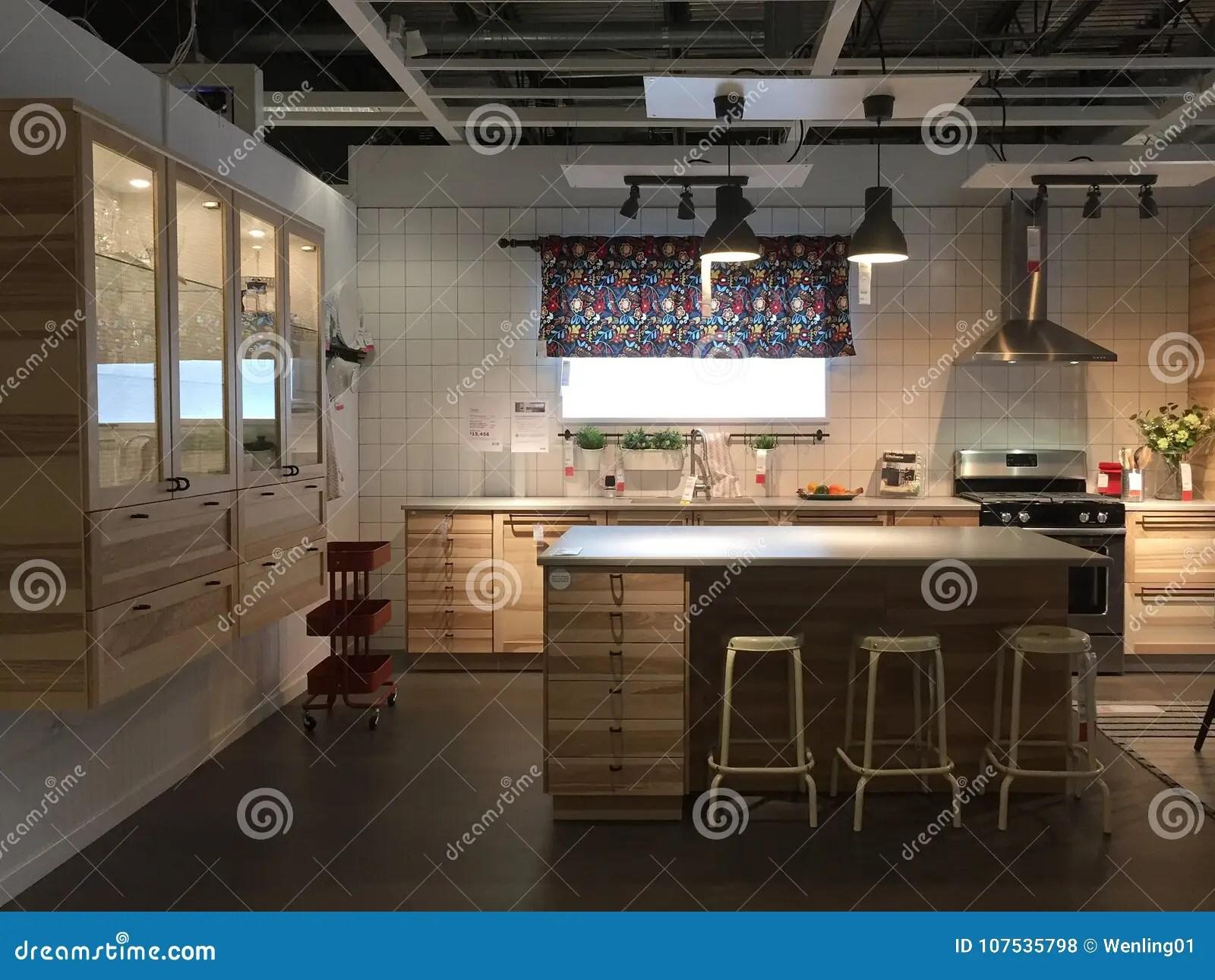 home and kitchen stores outdoor design software 与海岛的现代厨房设计宜家的美国编辑类库存照片 图片包括有壁橱 出售 精密现代厨房家具在商店宜家 tx美国的待售