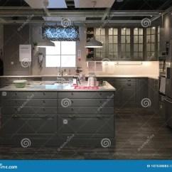 Kitchen Design Stores Elkay Sinks Undermount 与海岛的现代厨房设计装备的商店的宜家编辑类图片 图片包括有系列 分配 与海岛的现代厨房设计装备的商店的宜家