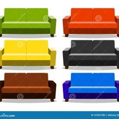 Kitchen Banquettes For Sale Designer Colors 与现实集合沙发 休息室 长椅长沙发 无背长椅象的内部在白色隔绝的长沙 无背长椅象的内部在白色背景隔绝的长沙发现实动画片室内设计例证的对象