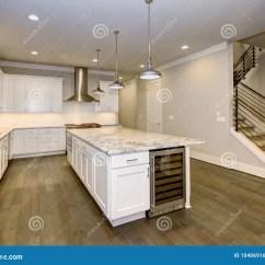 White Kitchen Cabinets Flat 与白色厨柜的大 宽敞厨房设计库存照片 图片包括有拱道 设计 顶层 照 宽敞厨房设计