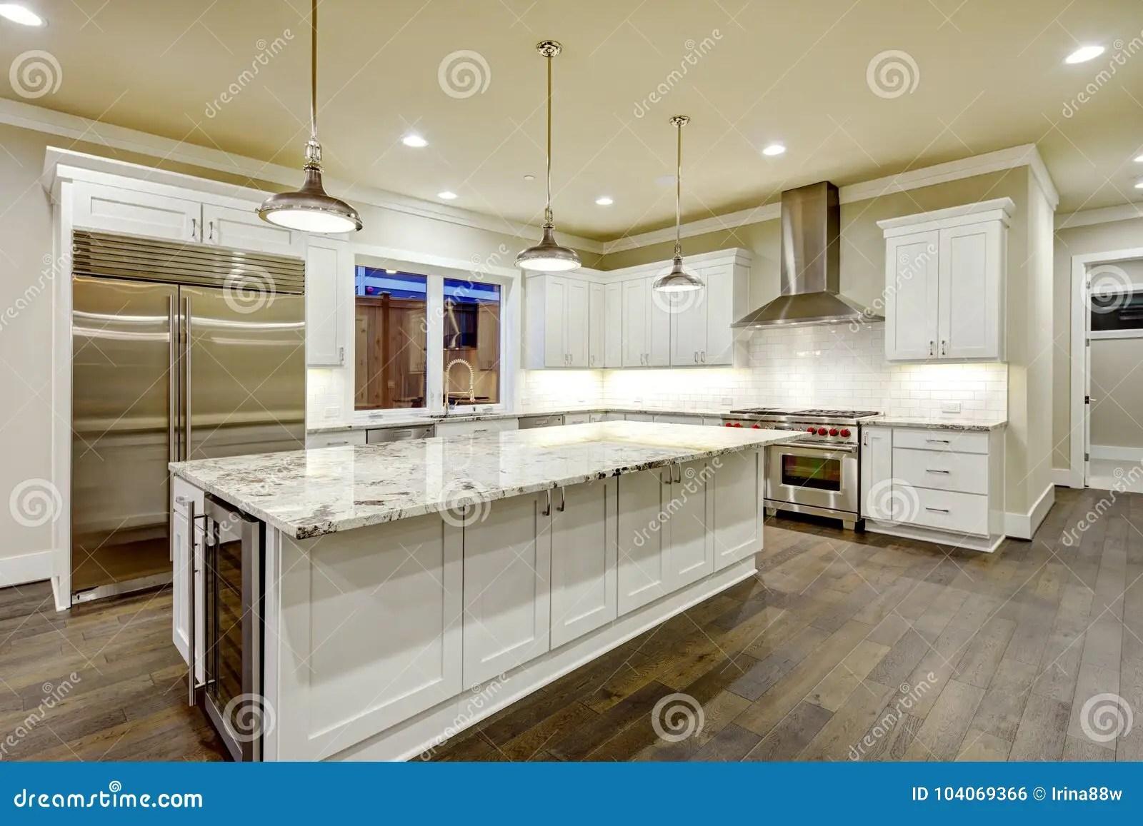 backyard kitchen designs pro style faucet 与白色厨柜的大 宽敞厨房设计库存照片 图片包括有西北 照亮 家具 宽敞厨房设计