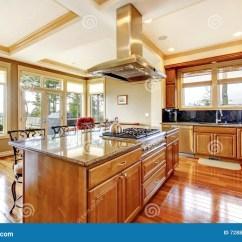 Backyard Kitchen Designs How To Create A Pantry In Small 与硬木地板 海岛 G的现代木厨房室设计库存照片 图片包括有水槽 顶层 敞篷 花岗岩后院的桌面和看法的现代木厨房室设计