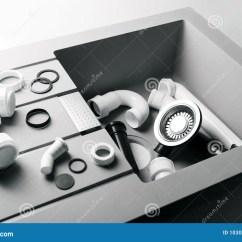 New Kitchen Sink What Is The Average Cost Of A Remodel 与配管配件的新的厨房水槽库存照片 图片包括有设备 厨房 背包 传递 与配管配件的新的厨房水槽