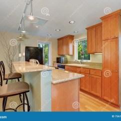 Modern Kitchen Stools Denver Cabinets 与酒吧和凳子的现代厨房内部库存照片 图片包括有凳子 装备 拱道 不锈 与酒吧和凳子的现代厨房内部