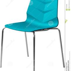 Turquoise Kitchen Decor Countertop Material 与镀铬物腿的绿松石颜色塑料椅子 现代设计师在白色背景隔绝的椅子库存 现代设计师在白色