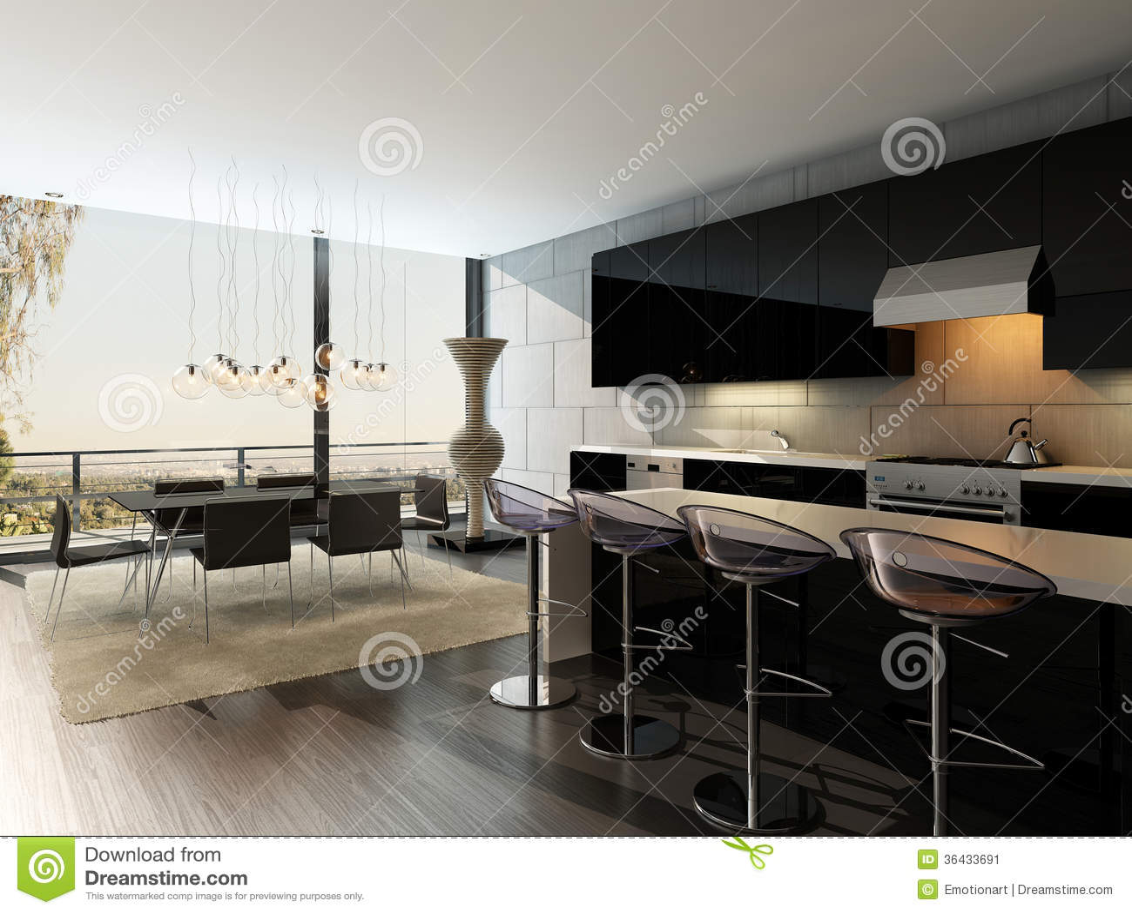 high kitchen table sets wholesale towels 与高凳和餐桌的黑厨房内部库存例证 插画包括有房子 空间 干净 豪华 与高凳和餐桌的黑厨房内部