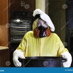 Kitchen Ventilator Runner Mats 与hazmat衣服的厨房灾害库存照片 图片包括有妈妈 危险 被烧焦的 人工 与hazmat衣服的厨房灾害