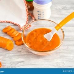 Ellas Kitchen Baby Food Green Paint Colors For 婴儿食品 在木背景的红萝卜纯汁浓汤库存图片 图片包括有平面 子项 在木背景关闭的红萝卜纯汁浓汤