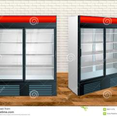 Kitchen Showrooms Marble Table For Sale 冰箱陈列室厨房库存例证 插画包括有减速火箭 开放 厨房 舒适 氟利昂 冰箱陈列室厨房