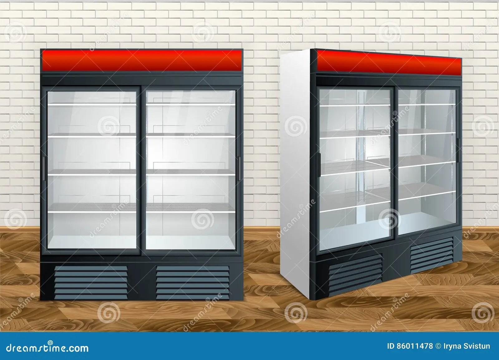 kitchen showrooms used cabinets craigslist 冰箱陈列室厨房库存例证 插画包括有减速火箭 开放 厨房 舒适 氟利昂 冰箱陈列室厨房