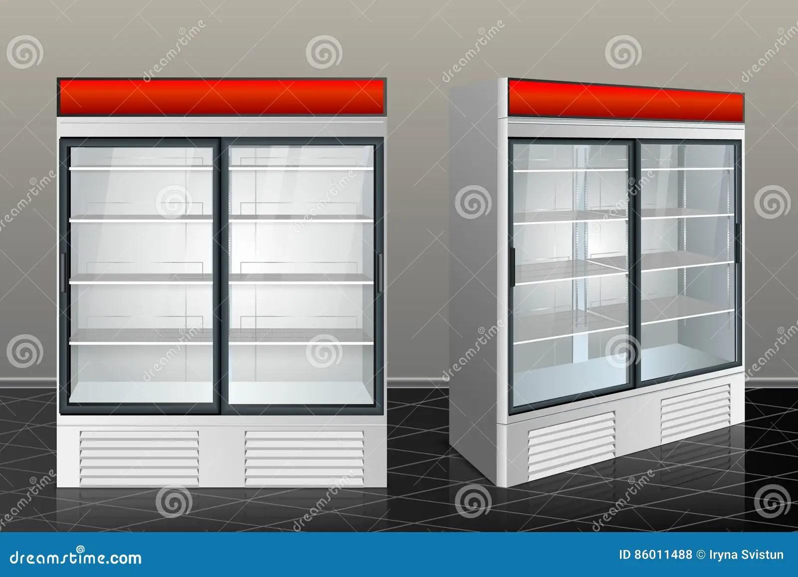 kitchen showrooms budget cabinets 冰箱陈列室厨房库存例证 插画包括有产品 饮食 传感器 查出 磁铁 冰箱陈列室厨房