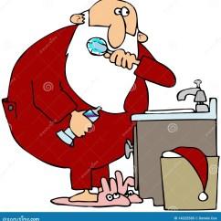 Kraus Kitchen Sinks How To Replace Countertops 刷他的圣诞老人牙库存例证 插画包括有brusher Yule 水槽 动画片 掠过克劳斯的卫生间表示他的例证圣诞老人水槽常设牙