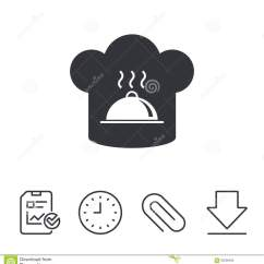 Kitchen Signs For Work Table With Drawers 厨师帽子标志象烹调标志向量例证 插画包括有工作 图表 盖帽 帽子 厨师帽子标志象烹调标志