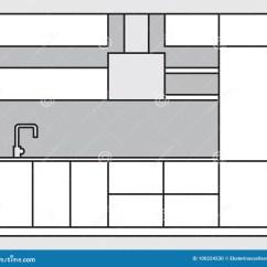 Modern Kitchen Art Dash Appliances 厨房内部计划在做的现代厨房家具草稿线艺术样式向量例证 插画包括有图象 厨房内部计划在做的现代厨房家具草稿线艺术样式