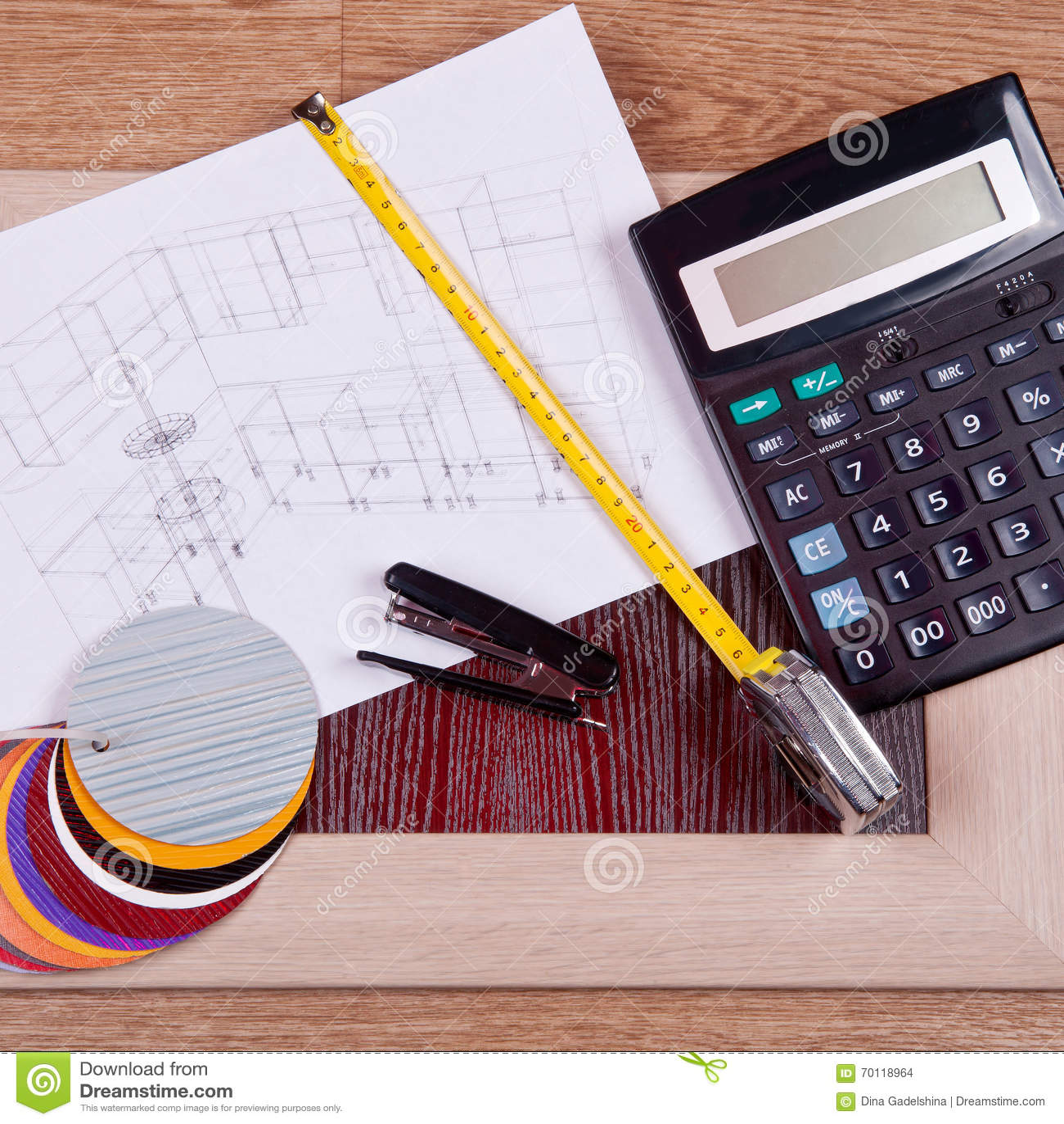 kitchen calculator sink refinishing porcelain 厨房和家具制造的建筑材料设计库存照片 图片包括有部分 颜色 计算器 建筑和建筑设计概念3d厨房项目的形象化建设中与木和塑料盘区 一个计算器和一个色板显示在模糊的图