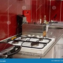 Kitchen Fryer Double Sinks 厨房和炊事用具在餐馆 炸锅 火炉 S 库存图片 图片包括有滤锅 现代