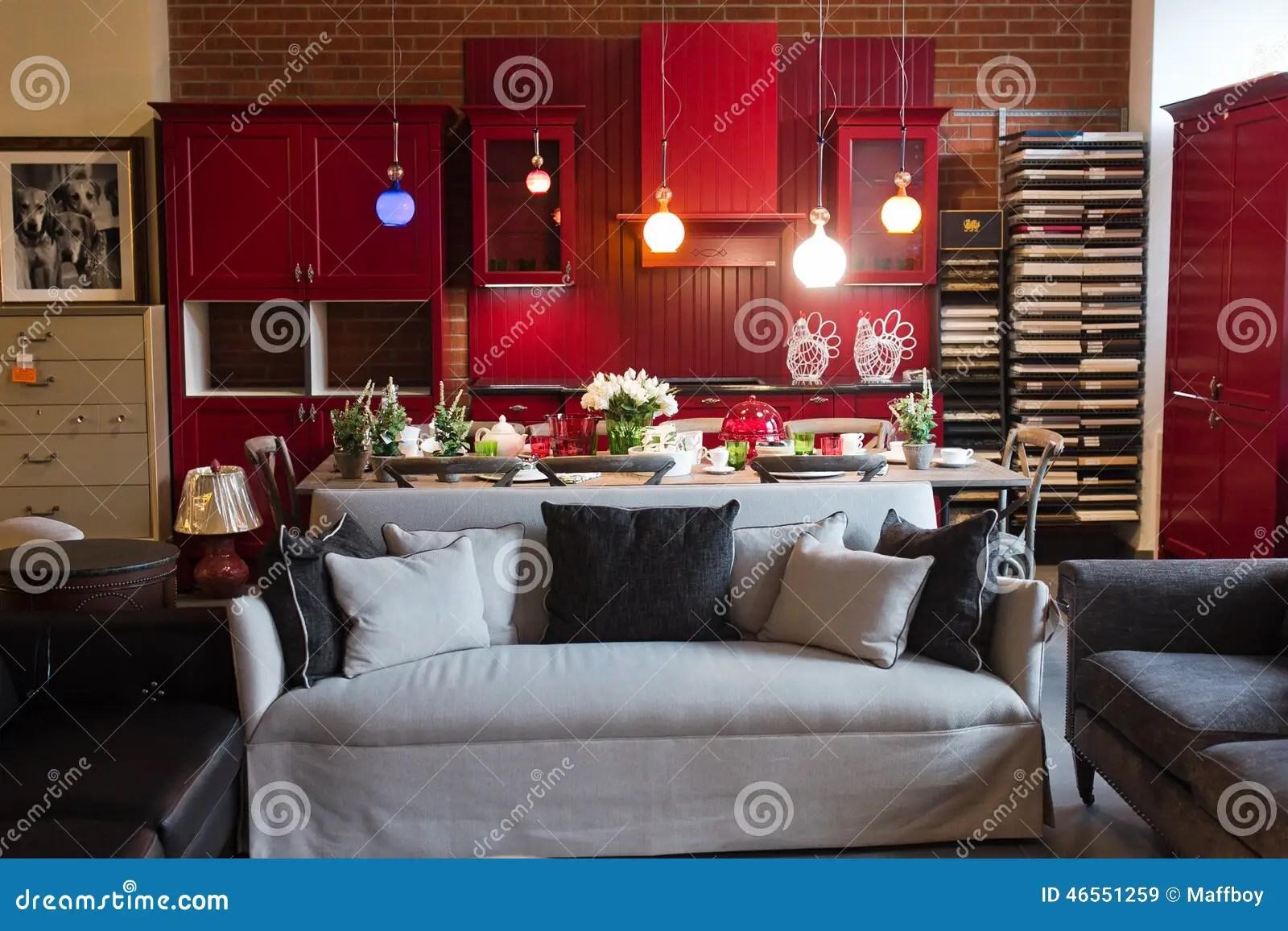 kitchen furniture store refrigerator for small 厨房室家具店编辑类库存图片 图片包括有户内 显示 框架 沙发 被登记 厨房室家具店