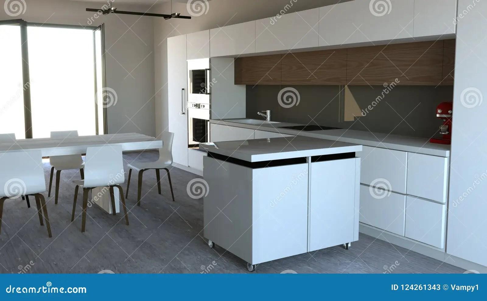 furniture for kitchen ventilation hood 厨房家具 室内设计家具和装置厨房的库存例证 插画包括有烤箱 制动手 室内设计家具和装置厨房的