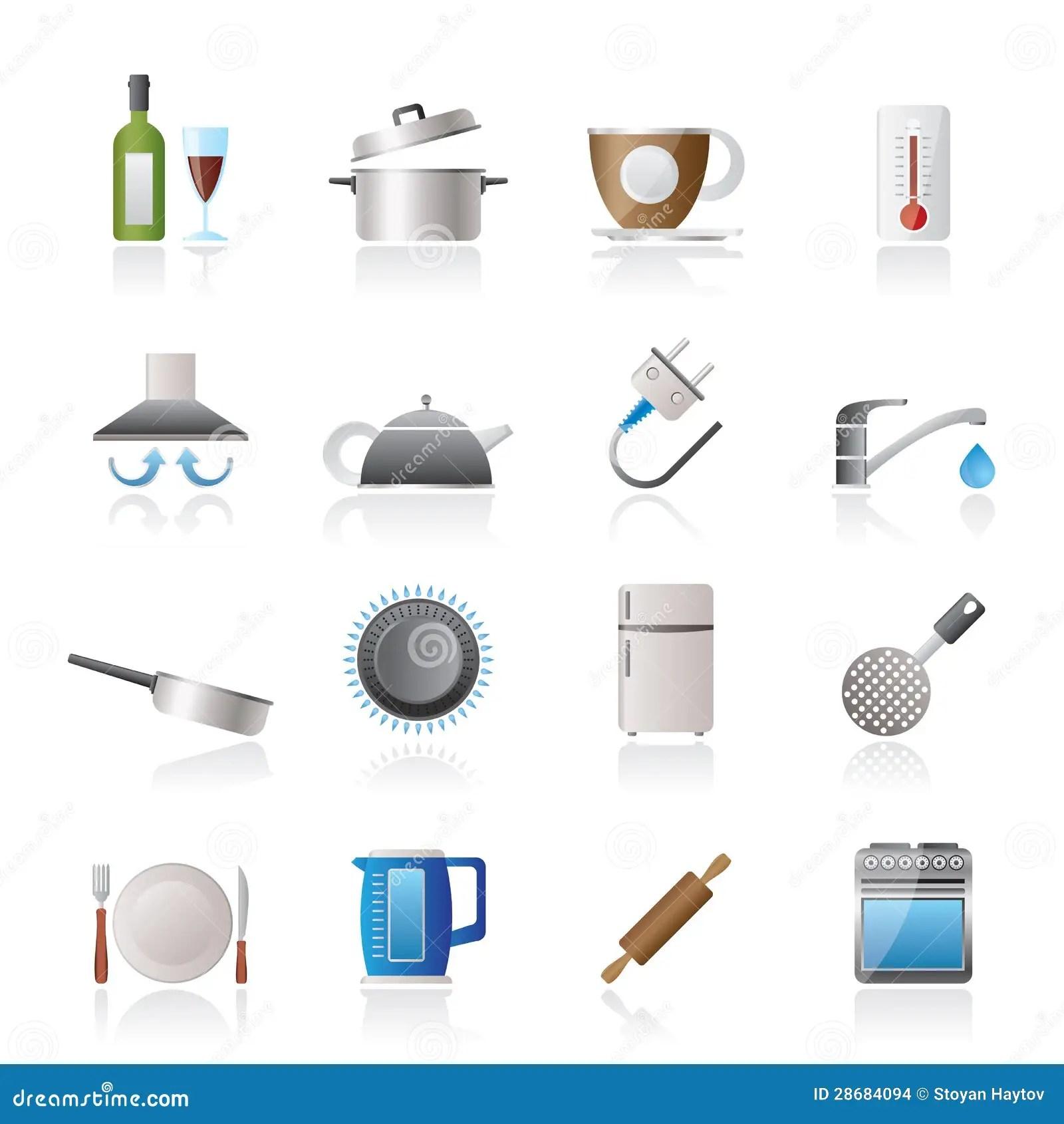 kitchen aid mixers delta talbott faucet 厨房对象和辅助部件图标向量例证 插画包括有例证 管道 搅拌机 咖啡 厨房对象和辅助部件图标