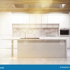 Kitchen Island Counter Blue Green Glass Tile Backsplash 厨房小岛 大理石 被定调子库存例证 插画包括有例证 国内 方便 复制 一个厨房小岛的正面图在有白色柜台和两个火炉的一个厨房里3d翻译 被定调子的图象