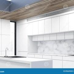 Kitchen Island Counter Cape Cod Design 厨房小岛 大理石 边库存例证 插画包括有舒适 碗柜 框架 现代 家具 一个厨房小岛的侧视图在有白色柜台和两个火炉的一个厨房里3d翻译
