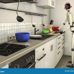 Kitchen Disposal Cabinetry 厨房机器人库存例证 插画包括有男管家 数据 厨房 处理器 帮助 翻译 厨房机器人