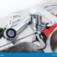 Kitchen Faucet Adapter Purple Cabinets 厨房水槽板钳库存照片 图片包括有部分 适配器的 空白 滴水 管道 厨房水槽板钳