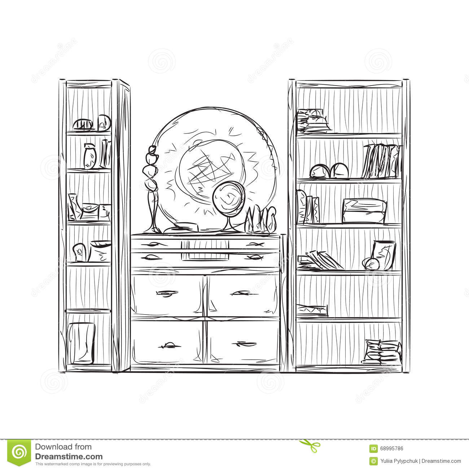 kitchen shelf decor base cabinets for sale 厨房碗柜 厨房架子家具向量例证 插画包括有线路 巴西 架子 装饰 厨房架子家具