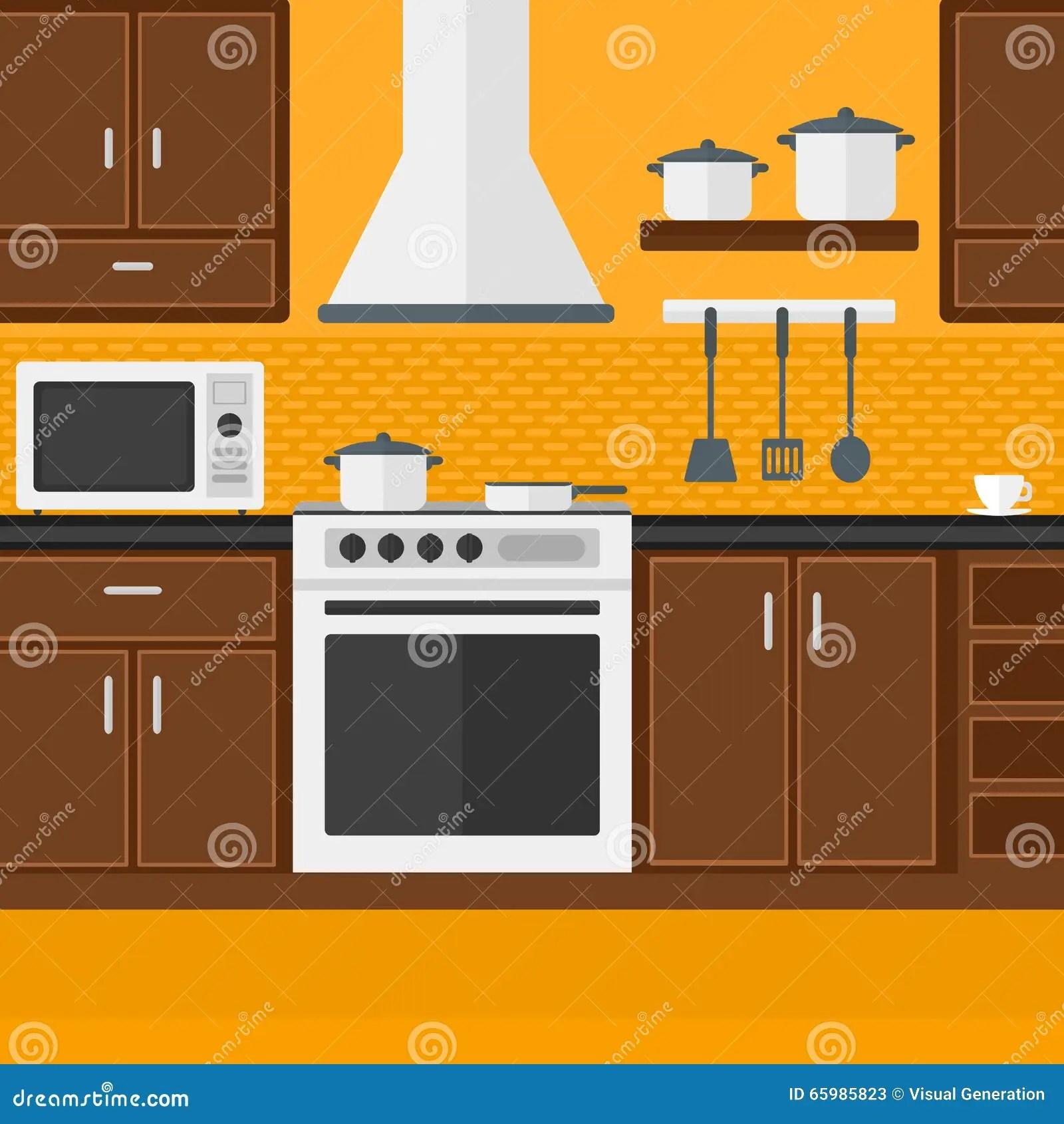 kitchen fork wall unit carcasses 厨房背景有装置的向量例证 插画包括有刀叉餐具 厨房 房子 国内 厨具 厨房背景有装置的