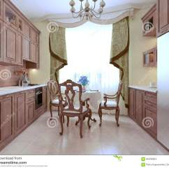 Kitchen Art Cost To Replace Cabinets 厨房艺术装饰样式库存例证 插画包括有用餐 陶器 玻璃 楼层 家具 厨房艺术装饰样式