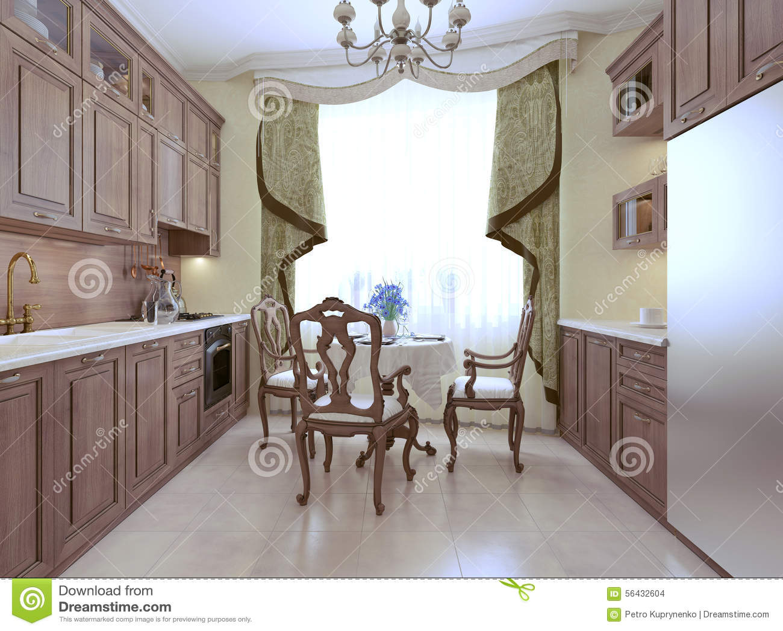 kitchen art decor farm sinks for kitchens lowes 厨房艺术装饰样式库存例证 插画包括有用餐 陶器 玻璃 楼层 家具 厨房艺术装饰样式