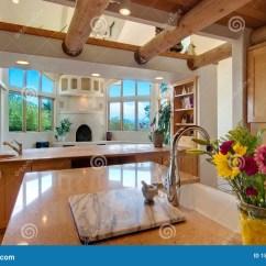 Southwest Kitchen Installation 厨房西南样式库存图片 图片包括有日志 自然 西南 封锁 样式 顶上 厨房西南样式