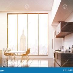 Kitchen Table Nook Designs Layouts 厨房角落库存例证 插画包括有创造性 照片 补白 内部 桌面 楼层 厨房角落在演播室平与大窗口和餐桌在台阶附近舒适的公寓的概念3d翻译被定调子的图象