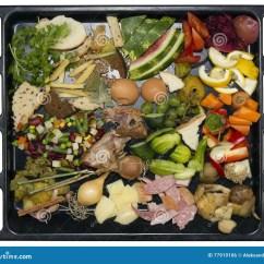 Kitchen Pantry Cabinet Handles Black 厨房食品废弃部库存照片 图片包括有柠檬 本质 果子 玉米 葡萄 垃圾 厨房食品废弃部