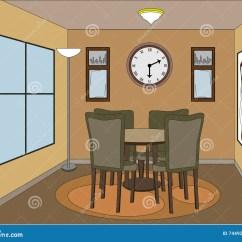 Kitchen Accent Table Home Depot Tile 口音偶然dinning的部分空间向量例证 插画包括有动画片 楼层 Browne 口音偶然dinning的部分空间