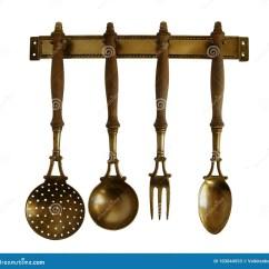 Copper Kitchen Accents Portable Islands For The 古色古香的黄铜厨房器物库存图片 图片包括有器物 匙子 国内 厨房 古色古香的黄铜厨房器物