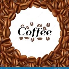 Framed Prints For Kitchens Kitchen Faucet Adapter 咖啡豆圆的框架背景印刷品向量例证 插画包括有咖啡因 热奶咖啡 研磨机 咖啡豆圆的框架背景印刷品