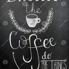 Kitchen Art Prints Ikea Stools 喝咖啡 做事印刷术海报 墙壁艺术印刷品在黑板的白垩字法行情库存图片 墙壁艺术印刷品在黑板的白垩字法关于咖啡的行情